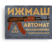 AK-47 (Blue) Canvas Print