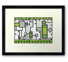 Metal Lab - Ghost Gear Green - Danny Phantom Framed Print