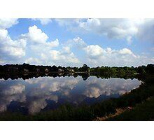 Cloudy Lake Photographic Print