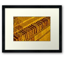 Carvings of 9th Century Framed Print