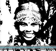 Darjeeling Girl with illusion frame  by Vicktorya Stone