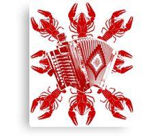 Cajun Music And Crawfish Canvas Print
