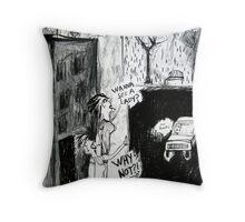 Liverpool Street Altercation Throw Pillow