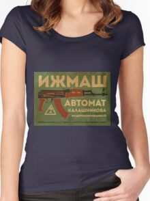 AK-47 (Green) Women's Fitted Scoop T-Shirt