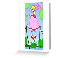 Haunted Mansion Peach  Greeting Card