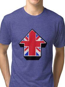 Red Blue White On Black Tri-blend T-Shirt