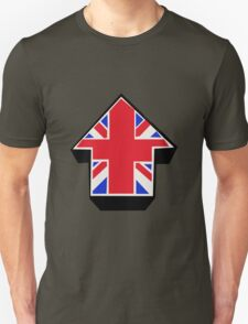 Red Blue White On Black T-Shirt
