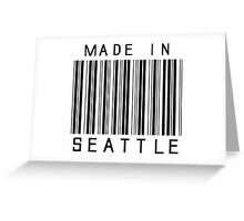 Made in Seattle Greeting Card