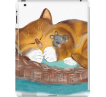 Kitten and Mouse Nap in the Cat Basket iPad Case/Skin