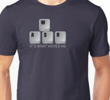 WASD It's What Moves Me - Gamer T Shirt Unisex T-Shirt