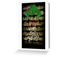 Joker Why so serious Greeting Card