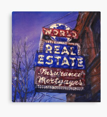 World Real Estate Canvas Print