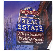 World Real Estate Poster