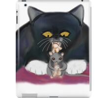 Mouse and Kitten Nibble on Popcorn iPad Case/Skin