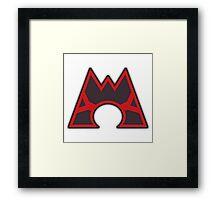 Team Magma Logo Framed Print