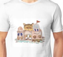 Crab Hides behind Sandcastle from Kitten Unisex T-Shirt