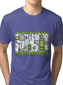 Metal Lab - Ghost Gear Green - Danny Phantom Tri-blend T-Shirt