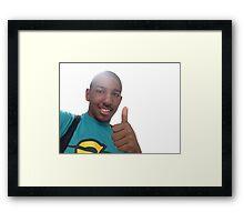 Miles approves! Framed Print