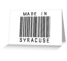 Made in Syracuse Greeting Card