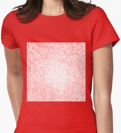 Non-Objective Red Womens Fitted T-Shirt