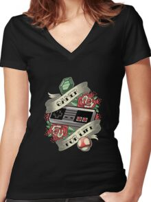 Gamer For Life Women's Fitted V-Neck T-Shirt