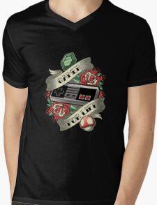 Gamer For Life Mens V-Neck T-Shirt