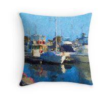 St Kilda Marina Throw Pillow