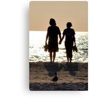 Silhoutte Couple Canvas Print