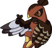 Hawlucha - Dark Intermediate Red-Tailed Hawk Morph by FlareND