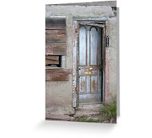 Trading Post Door Greeting Card