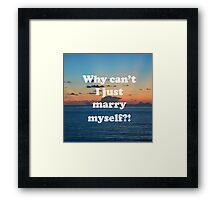 Good question  Framed Print