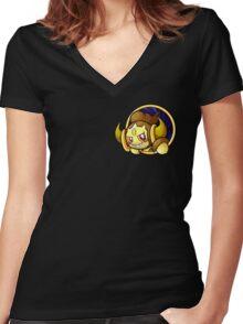 Pocketspace Hoopa -SHINY- Women's Fitted V-Neck T-Shirt