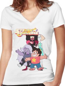 Steven universe and the gems Women's Fitted V-Neck T-Shirt