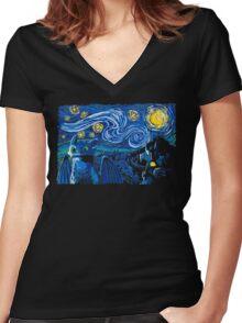 Starry Berk Women's Fitted V-Neck T-Shirt