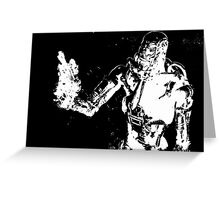 terminator #654 bw Greeting Card