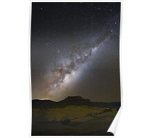 Milky Way and Shooting Stars Poster