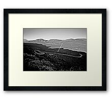 Sand valley of Piton de la Fournaise Framed Print