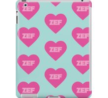 Zef Pattern Pink & Blue iPad Case/Skin