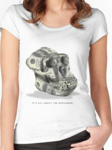 It's all about the Benjamins Women's Fitted Scoop T-Shirt