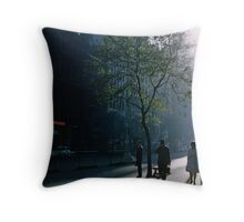 Early morning Collins Street 19570100 0000 Throw Pillow