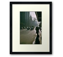 Looking East Early Morning Collins Street Melbourne 1975 Framed Print