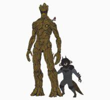Groot & Rocket as Batman & Robin by Grantedesigns  :)