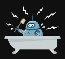 Robot in the bath Kids Clothes