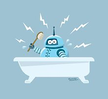 Robot in the bath by pixbyr