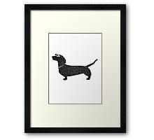 steampunk dachshund Framed Print