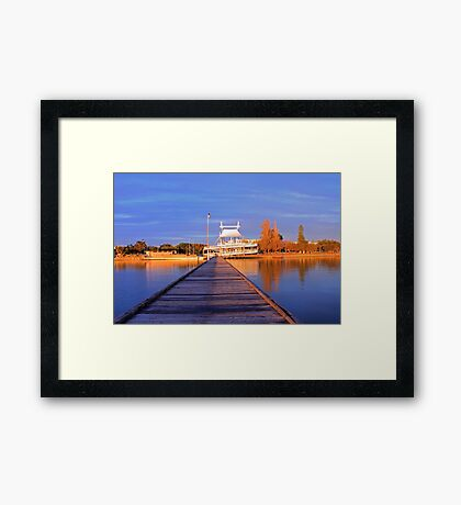 Como Jetty  Framed Print