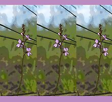 SCARF or LEGGINGS Wild Flower Camouflage by GrowingWild