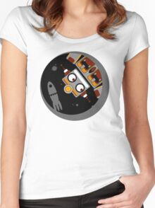 Robot Lost In Space Women's Fitted Scoop T-Shirt