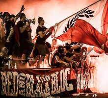 Football Fans and Pyro by efcso
