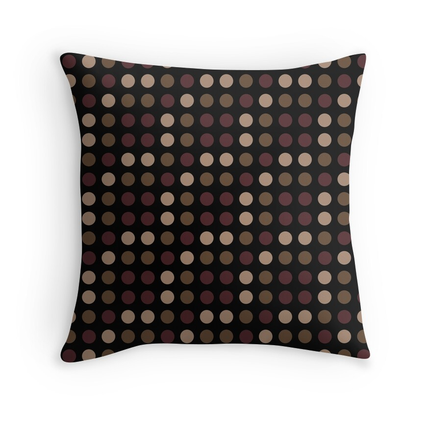 Red Tan And Brown Throw Pillows :